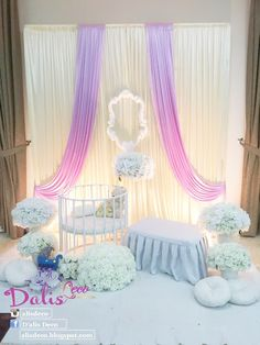 Baby Name Decorations, Simple Wedding Decorations, Wedding Lanterns, Backdrop Decorations, Baby Decor, Naming Ceremony Decoration, Ceremony Decorations, Baby Shower Parties, Baby Shower Themes