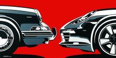 Porsche 911: then and now.