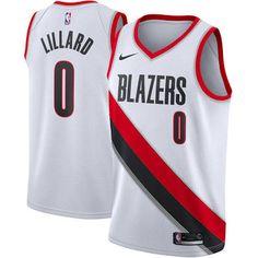 bff7b58db96 Men s Portland Trail Blazers Damian Lillard Nike White Swingman ... Kyrie  Irving Celtics