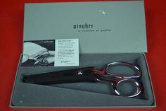 Gingher G-8 Knife Edge Shears Scissors - Chrome In Box #Gingher