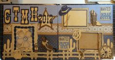 This is a double page layout I did using the Pemberley paper pack. I also used the Old West Cricut Cartridge. Thought I would make myself a...