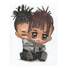 Jaden ❤ Willow #InterviewMagazine  #jadensmith #willowsmith #interviewmagazine #cartoon #caricature #caricatura #fanart #artwork #sketch #illustration #drawing #crayons #bobblehead #handmade #handdrawn #lauracbreezy #lauracbreezyart