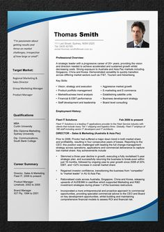 sample of best resume format