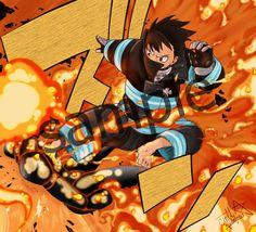 Shinra by kisamesensei on DeviantArt Fire Brigade Of Flames, One Punch Man, Shinra Kusakabe, Japanese Poster Design, Naruto Art, Anime Artwork, Fanart, Manga Art, Otaku