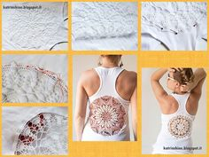 Faça Você Mesmo - Blusinha customizada com toalha de crochê