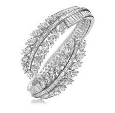 Harry Winston Diamond Feather Bracelet