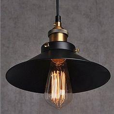 Industrial Vintage Pendant Light Shade Retro Ceiling Lighting Restaurant Pendant Lamp Shade E27 Base: Amazon.co.uk: Lighting