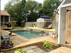 A husband and wife want an outdoor oasis. First, they buy a pool, but then they do THIS!