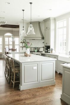 Elegant Farmhouse: Charming Home Series - Town & Country Living Kitchen Interior, Kitchen Inspirations, Kitchen Remodel, Kitchen Decor, New Kitchen, House Interior, Home Kitchens, Kitchen Layout, Corner Stove