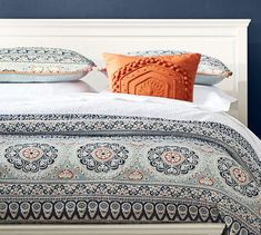Shop pia medallion quilt from Pottery Barn. Our furniture, home decor and accessories collections feature pia medallion quilt in quality materials and classic styles. Behr, Twilight, Pottery Barn Quilts, Organic Duvet Covers, Parlor Room, Bedding Sets, Blue Bedding, King Comforter, Bedrooms