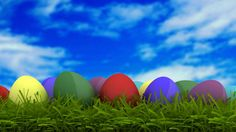 happy easter greeting card easter eggs background