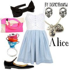 Disneybound, alice, alice in wonderland