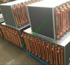 Custom coil air to water heat exchanger
