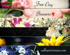 Free etsy floral banners for your store.