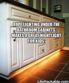 Smart idea for both kids and grown ups when heading to the bathroom at night