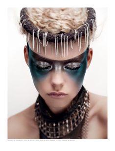 Poseidon make up? Makeup Inspo, Makeup Inspiration, Beauty Makeup, Eye Makeup, Makeup Ideas, Make Up Looks, Tribal Makeup, Galaxy Makeup, Fantasy Make Up
