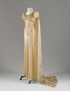 Fall 1938, France Silk court presentation ensemble by Elsa Schiaparelli  MET Museum