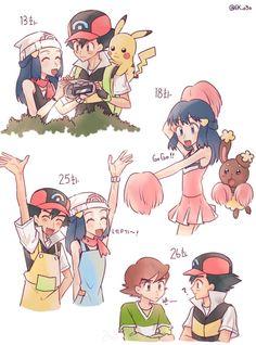 Green Pokemon, Pokemon People, Ash Pokemon, Pokemon Ships, Pikachu, Ash And Dawn, Manga Anime, Anime Art, Devian Art