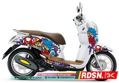 40 Gambar Honda Scoopy Terbaik Stiker Transformers Dan Motor