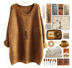 curled up cosy by rosemarykate on Polyvore featuring polyvore fashion style Kenneth Jay Lane Topshop Toast FOSSIL Le Labo clothing