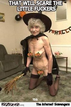 WTF old lady Halloween costume funny meme