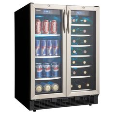 Danby Beverage Center and 27-bottle Wine Cooler (Danby Beverage Center / 27 bottle wine cooler), Black (Glass)