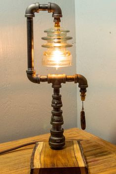 Rustic Industrual Pipe Lamp by ToddsDesigns on Etsy