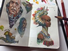 94 of 365 - Kenneth Rocafort - Sketchbook