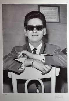Roy Orbison photographed by Paul Berriff