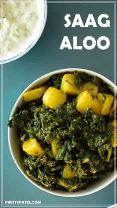 saag aloo, spinach & potato curry, indian curry, simple recipe, healthy, low carb, vegan, gluten free, vegetarian l www.prettypatel.com
