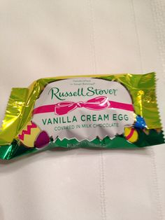Russell Stover Vanilla Cream Easter Egg, covered in Milk Chocolate, 1 ounce egg (Pack of 18)