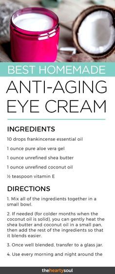 DIY Eye Cream with Frankincense & Shea Butter to Help Fight Wrinkles, Crows Feet, and Dark Ci. - DIY Eye Cream with Frankincense & Shea Butter to Help Fight Wrinkles, Crows Feet, and Dark Circles - Anti Aging Eye Cream, Best Anti Aging, Anti Aging Skin Care, Anti Aging Tips, Diy Eye Cream, Cream Cream, Cream Butter, Skin Cream, Homemade Eye Cream