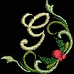 Christmas Holly Font