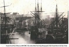 One of the oldest photographs of the French navy.