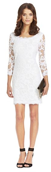 $365, Zarita Scoopneck Lace Dress by Diane von Furstenberg. Sold by DVF.com. Click for more info: http://lookastic.com/women/shop_items/35525/redirect