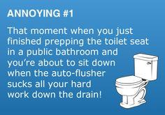 Annoying #1 - Toilet Auto-flusher