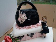Radley bag birthday cake with figure