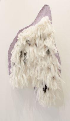 John Brooks, Looming | Artificial Selection (detail) hand woven wool, cotton & expanding foam 2014