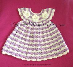 Crochet Baby Dress PATTERN TN004  Baby Dress Pattern Crochet Baby by PatternsPa...