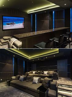 Basement Home Theater #basement (basement ideas on a budget) Tags: basement ideas finished, unfinished basement ideas, basement ideas diy, small basement ideas basement+ideas+on+a+budget