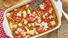 Zucchini-Feta-Gratin