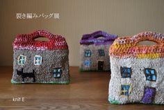 裂き編みバッグ展   knit E