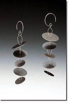 Petal Earrings Oxidized Sterling, maja designs