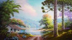 pintura de tela paisagem alemao - Pesquisa Google