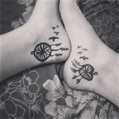 dream catcher tattoo for girls ankle