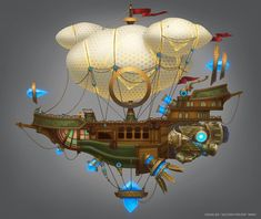 Kania Golden Age Astral Ship by e-danilov on DeviantArt Steampunk Ship, Steampunk Design, High Fantasy, Fantasy Art, Flying Ship, Rio 2, Dungeons And Dragons Homebrew, Treasure Planet, Space Pirate