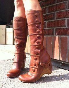 Miz Mooz Siri Leather Boots Heels Pumps Chloe Whiskey Shoes 8.5 8 1/2  NEW! #MizMooz #KneeHighBoots