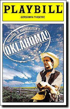 Playbill Cover for Oklahoma! at George Gershwin Theatre Off Broadway Shows, Broadway Nyc, Broadway Plays, Broadway Theatre, Musical Theatre, Broadway Playbill, Musicals Broadway, London Theatre, Broadway Posters