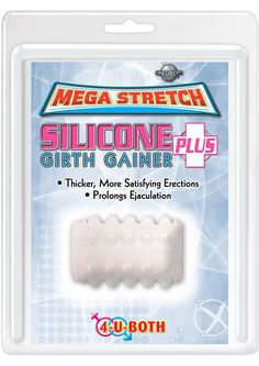 Buy Mega Stretch Silicone Girth Gainer Plus 2 Inch Clear online cheap. SALE! $12.49