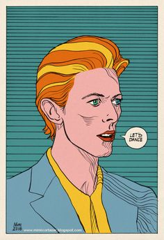 David Bowie / Color version in pop art style.
